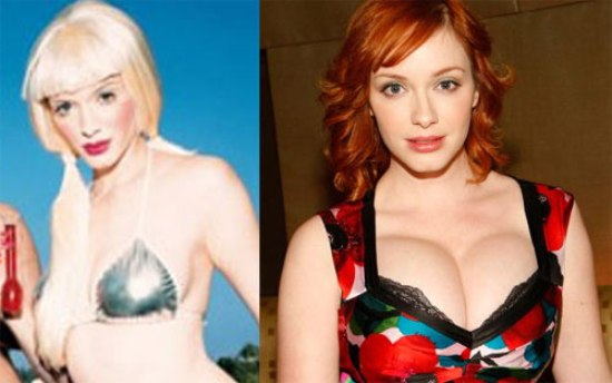 christina hendricks plastic surgery photo - 1