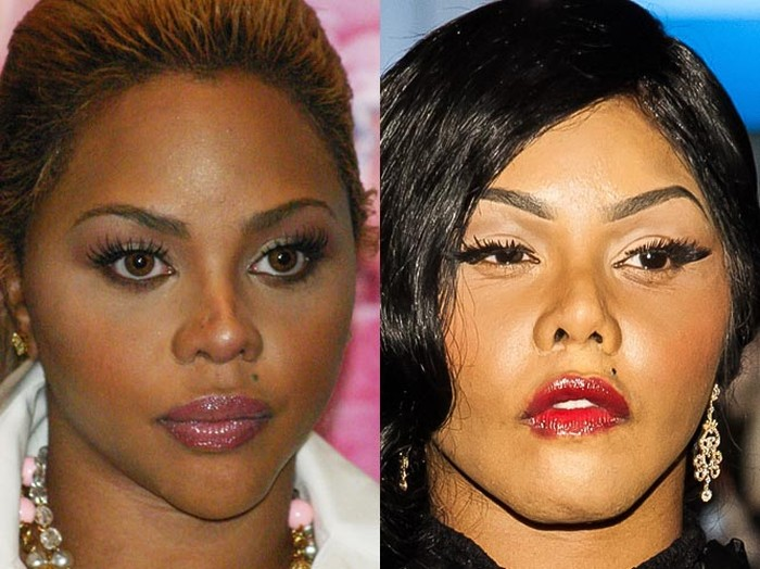 lil kim before and after plastic surgery photo - 1